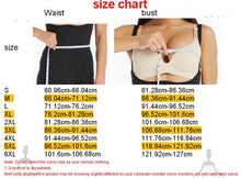 Load image into Gallery viewer, Please Follow Size Chart /Corset Body Shaper Latex Waist Trainer Zipper Underbust Slim Tummy Waist Cincher Slimming Briefs Shaper Belt Shapewear Women - spazz26