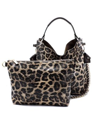 BR Leopard Chain 2-in-1 Shoulder Bag - spazz26
