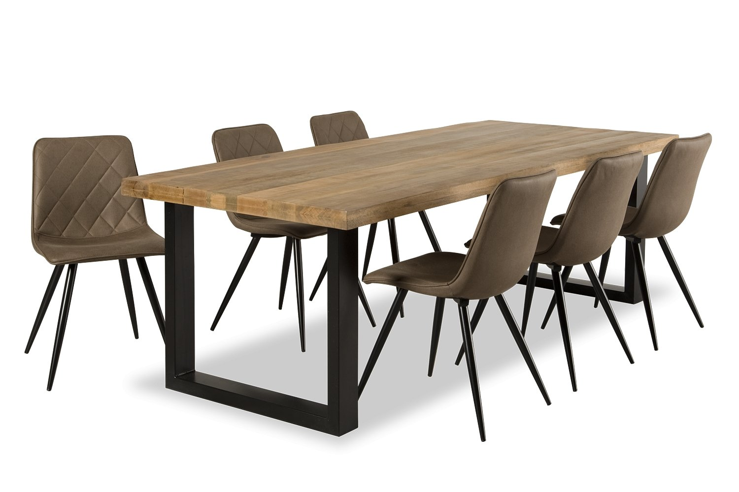Eetkamertafel Jacob + Lot Stoelen - Woonlease