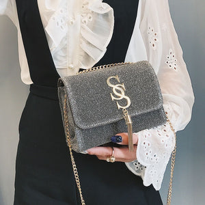 Women Glitter Handbag Shoulder Luxury Sparkling Party Evening Envelope Clutch Bag Wallet Ladies Tote Purse Crossbody Bag OC356