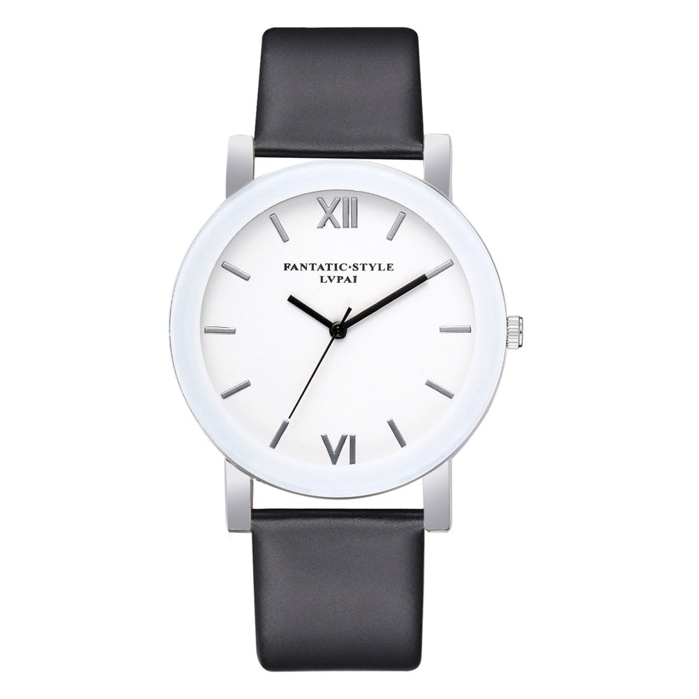 Simple Clock  Analog Wrist Watch