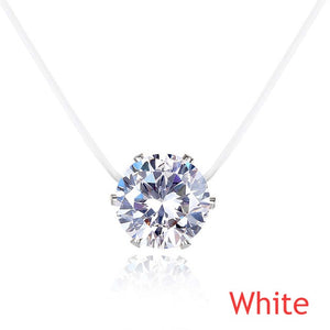 Invisible Chain Crystal Rhinestone Necklace