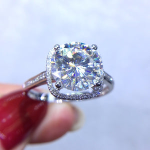Fine Jewelry Real 18K Gold AU750 G18K 3ct Moissanite Diamond Ring Gemstone Rings for Women
