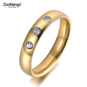Gold Color 3pcs Crystal Ring