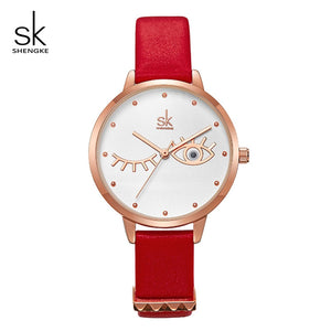 ShengKe Fashion Brand Women Quartz Watch Creative Thin Ladies Wrist Watch For Montre Femme 2019 SK Female Clock relogio feminino