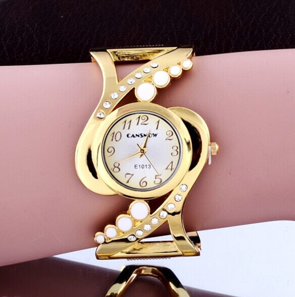Luxury Gold Bracelet Women's Watches Fashion Diamond Ladies Watch Women Watches Elegant Female Clock montre femme zegarek damski