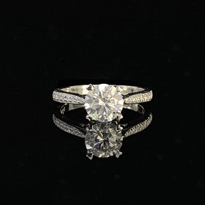 18K White Gold Ring 1ct 2ct 3ct Moissanite Luxury Single row drill Ring Diamond jewelry Wedding Party Anniversary Ring