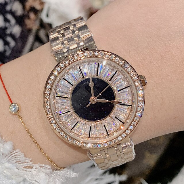 Luxury Women Watches Diamond Silver Crystal Watch Ladies Top Brand Lady Casual Watch Women's Bracelet Watches relogio feminino