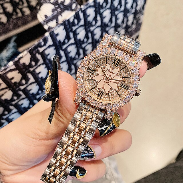 reloj mujer Women Diamond Watches Women Stainless Steel Crystal Watch Lady Luxury Gift Dropshipping Clock Hour Relogio Masculino