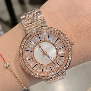 Full Diamond Women Watches Lady Rose Gold Quartz Watch Stainless Steel Women Wristwatch Girls Female Clock New relogio feminino