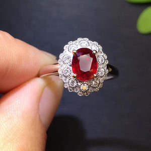 Ruby Ring Fine Jewelry Pure 18 K White Gold Natural Pigeon Blood Red Ruby Gemstones 1.07ct Female's Wedding Diamonds Fine Rings