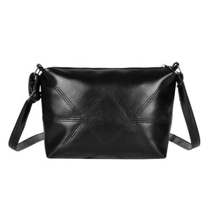 Women New Fashion Solid Color PU Shoulder Messenger Packs Leather Women Crossbody Bags Simple Shoulder Bag Handbags 190x170x70mm
