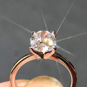 Custom Made 14K Rose Gold Moissanite Ring 2ct Carat Luxury Oval Cut GH Color moissanite jewelry Wedding Anniversary Ring gift