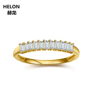 0.11ct Baguette Cut Natural Diamonds Engagement Wedding Ring Women Solid 14k Yellow Gold Anniversary Party Band Fine Jewelry