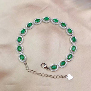 SHILOVEM 925 sterling silver Natural Emerald classic fine Jewelry  women wedding party  wholesale gift new 3*5mm  cl0305876agml