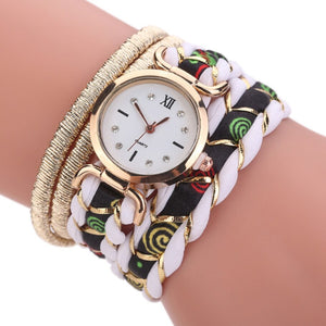 Boho Summer Fashion Women Bracelet Watch Female Clock Hand Made Clay Butterfly Flower Link Chain Wristwatches Femme Watch