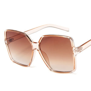 Vintage Brand Oversized Sunglasses Women Men Retro Big Frames Sunglass Shades Pink White Eye Glasses UV400 Ladies Eyewear