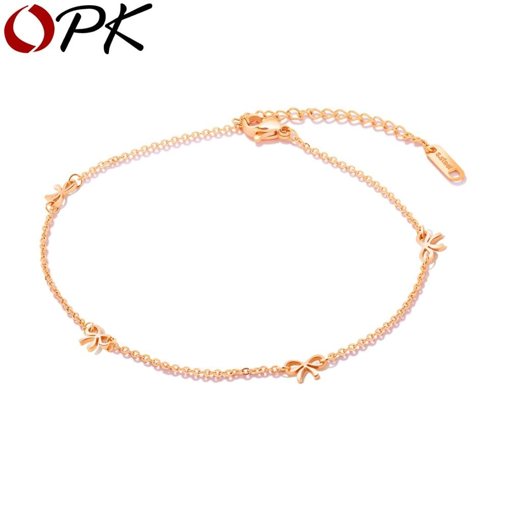 Brand Trendy Cute Bow Tie Style Trendy Beach Leg Bracelet Charm Anklets Jewelry Friendship Gift For Women Girls Accessories tiff