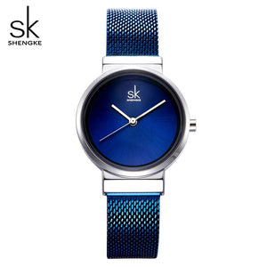 SHENGKE Simple Gray Watches Women Fashion Quartz Watch Luxury Brand Wristwatches For Lady Clock 2018 New Style Relogio Feminino