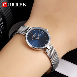 CURREN Watches Women Fashion 2020 Luxury Brand Quartz Watch Ladies Mesh Stainless Steel Clock Female Wristwatch Relogio Feminino