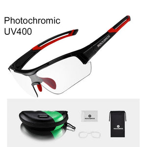 ROCKBROS Photochromic Cycling Glasses Bike Bicycle Glasses Sports Men's Sunglasses MTB Road Cycling Eyewear Protection Goggles
