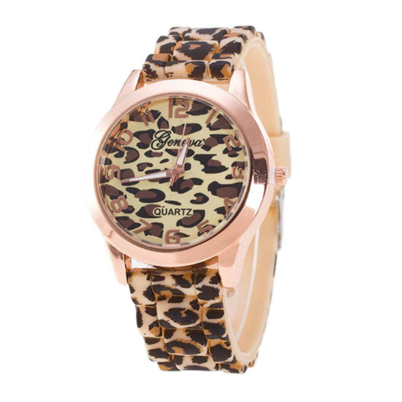 2020 Ladies Watches Women Casual Watches Fashion Leopard Watches Women Geneva Silicone Band Quartz Wristwatches Dropshipping