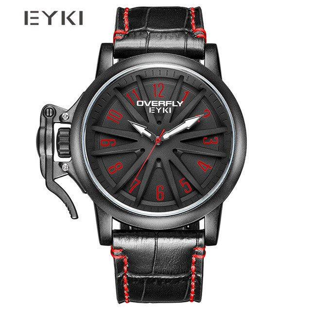 No.2 Brand Male Creative Big Dial Watch Men Fashion Calendar Sport Watches Quartz Wristwatch Waterproof Clock Relogio Masculino