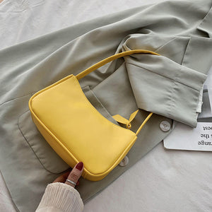 Spring Summer Woman Trendy Retro Handbags PU Leather Zipper Shoulder Bag Female Bolsa Vintage Hobo Women Small Hand Bag