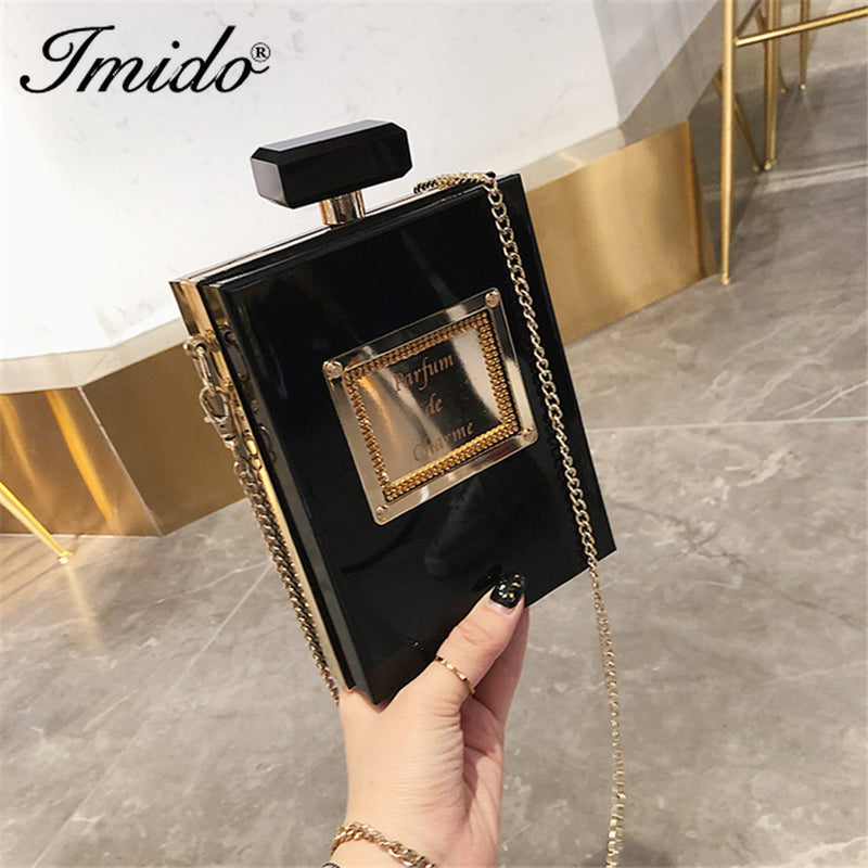 Perfume Box Bag Women Shoulder Bags Designer Cola Can Shape Chains Female Crossbody Bags Chic Ladies Evening Clutch Purse