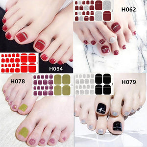 2019 New Designs Foot Toe Nail Sticker Fashion Nail Art Polish Full Cover Waterproof Adhesive Foil Stickers Manicure Predesigned