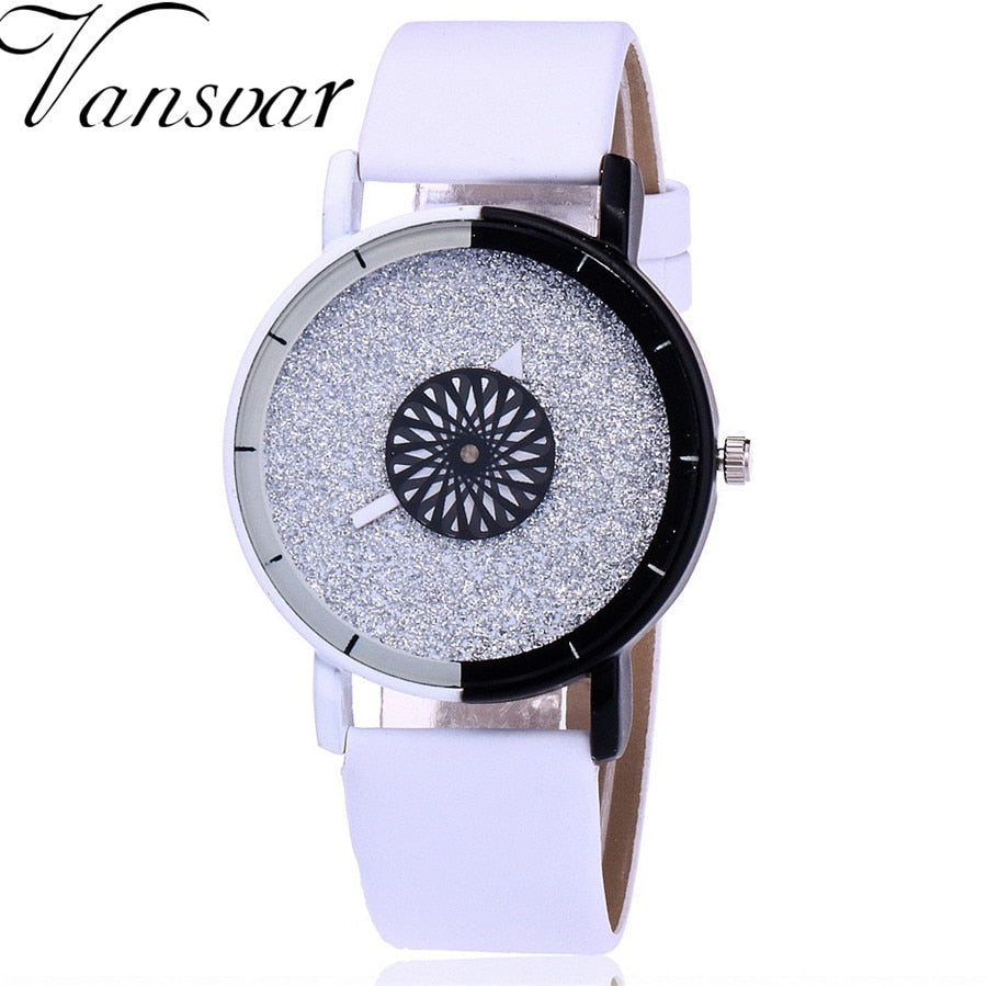 Vansvar Brand Fashion Women Wristwatch Luxury Casual Candy Leather Quartz Watch Relogio Feminino Gift Clock Drop Shipping