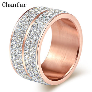 Elegant Rose Gold Crystal Ring