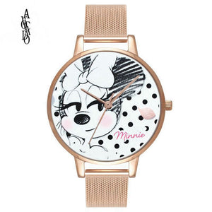 Minnie Mouse Cartoon Printed Kids' Watch