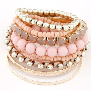 Bohemian Candy Color Multilayer Beads Bracelet