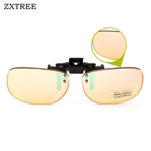 ZXTREE Red Green Color Blind Glasses Clip Driver's license Look Picture Corrective Sun Glasses Men Color-blindness Glasses Z407