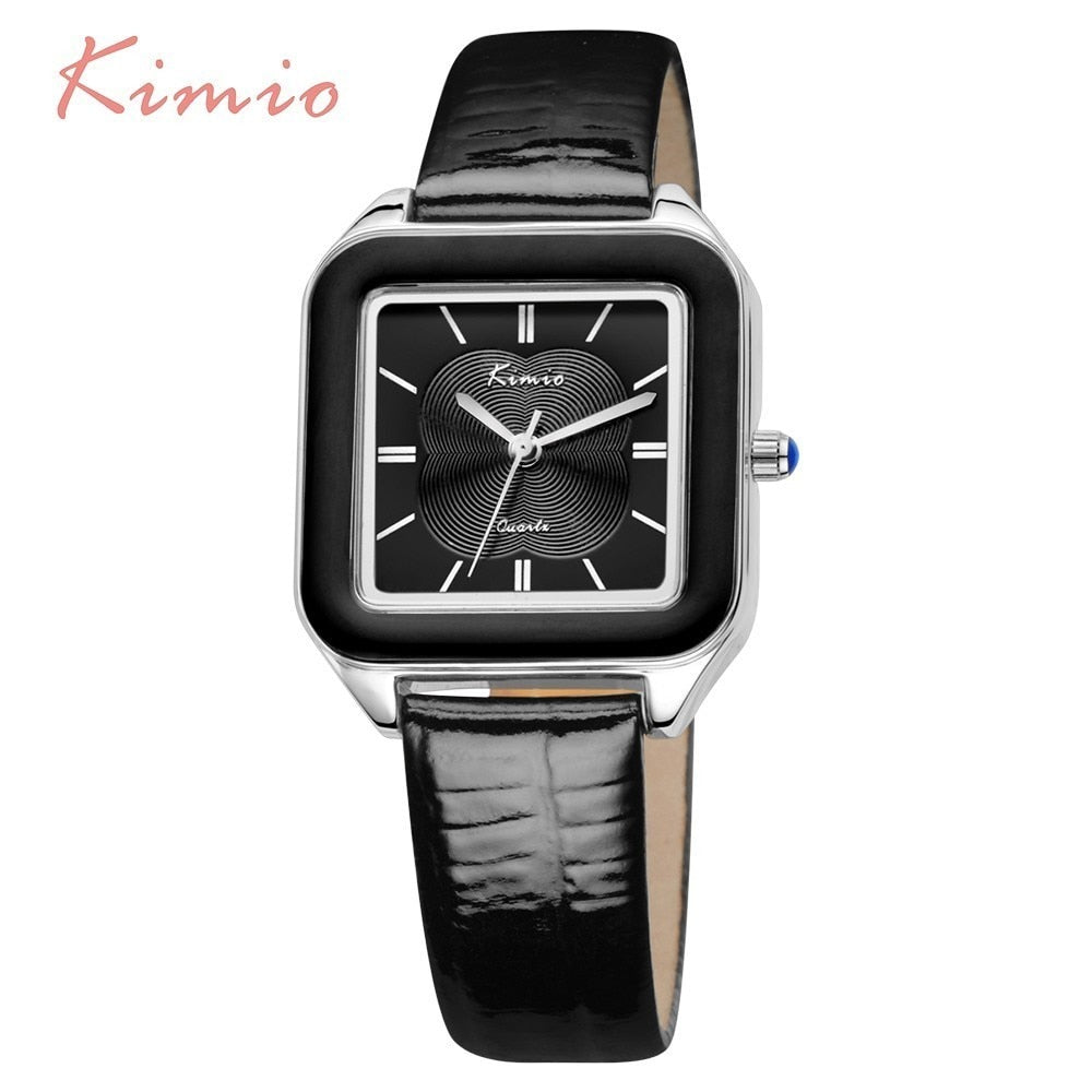 Bright Color Square Dial Wrist Watch