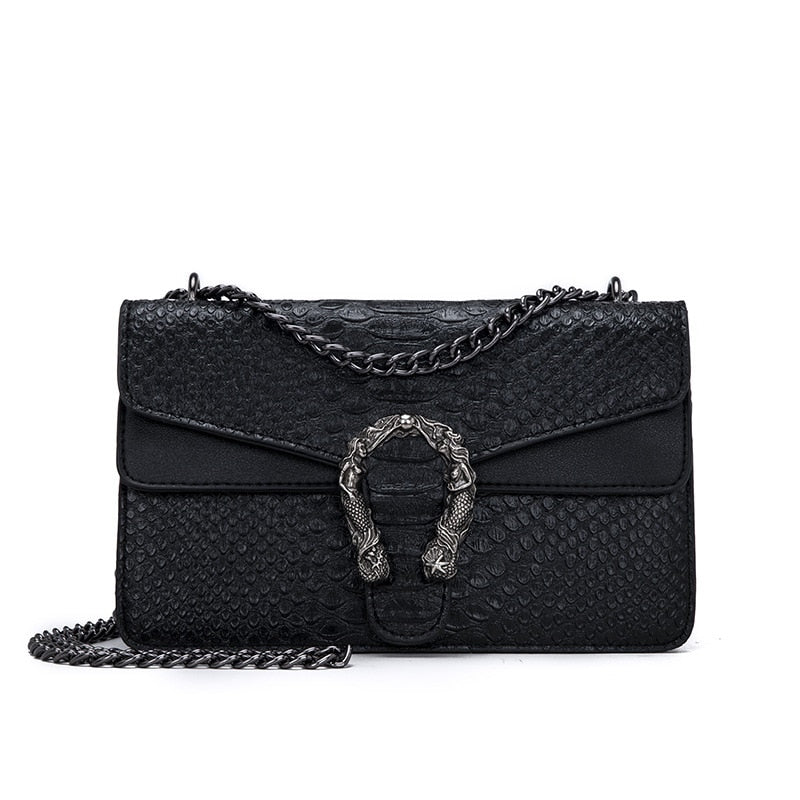 Snake Fashion Brand Women Bag Alligator PU Leather Messenger Bag Designer Chain Shoulder Crossbody Bag Women Handbag Bolso Mujer