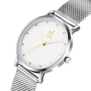 Luxury Quartz Stainless Steel Ladies Wrist Watch