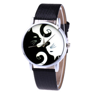Leather Strap Korean Lady Student Watch