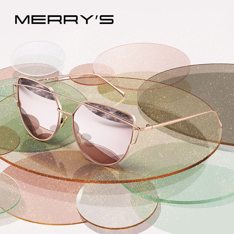 MERRYS DESIGN Women Classic Twin-Beams Fashion Cat Eye Sunglasses UV400 Protection S7882N
