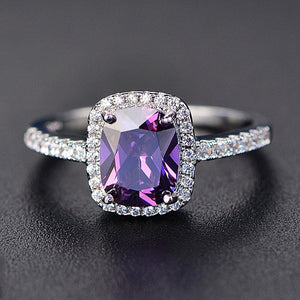 Purple Natural Amethyst Ring