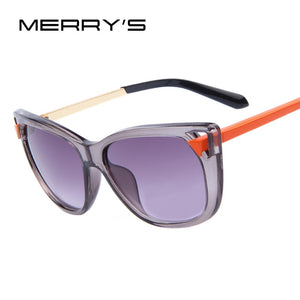 Women Brand Design Cat Eye Sunglasses Fashion Retro Ladies Cat Eye Sunglasses Metal Legs  UV400
