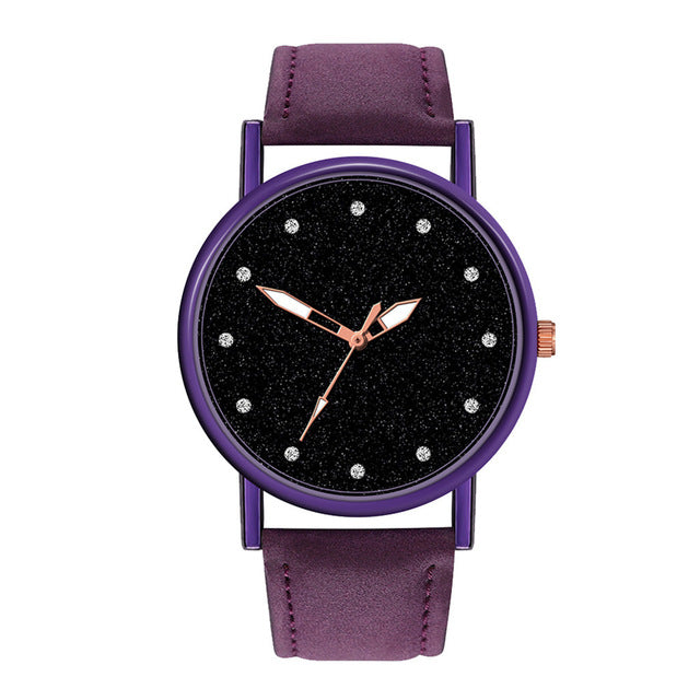Women's Casual Quartz Leather Analog Watch