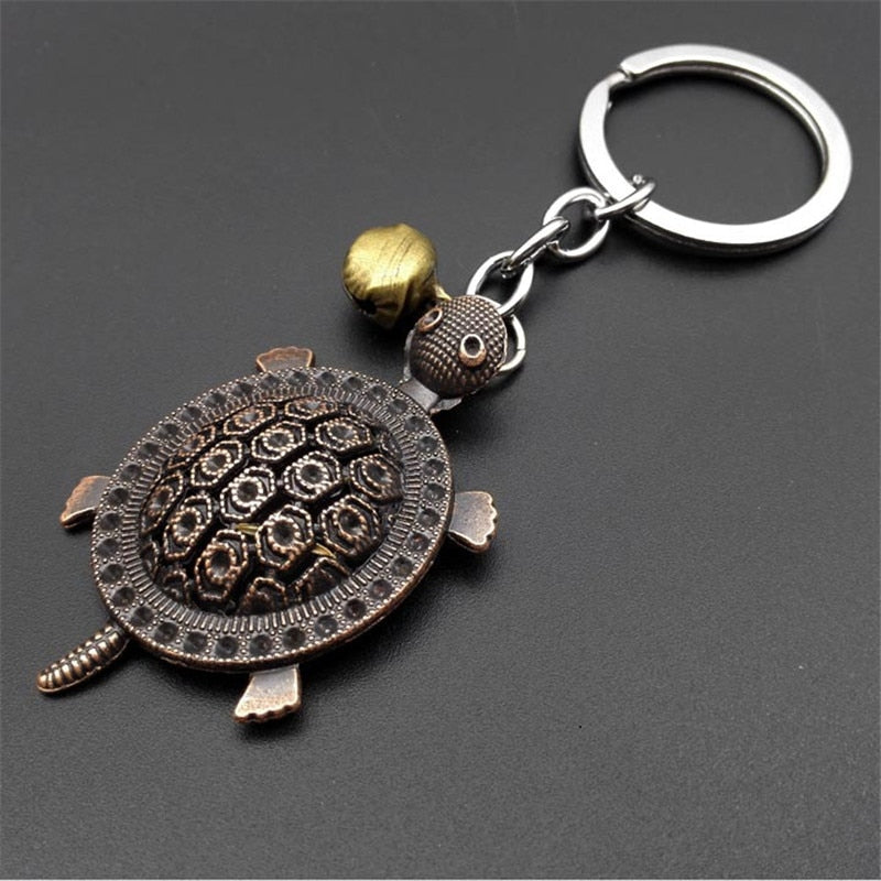 Retro Mini Decoration lovely little turtle Keychain Paris Tour Eiffel Key Chain Key Holder Key Ring Women Bag Charm Pendant Gift