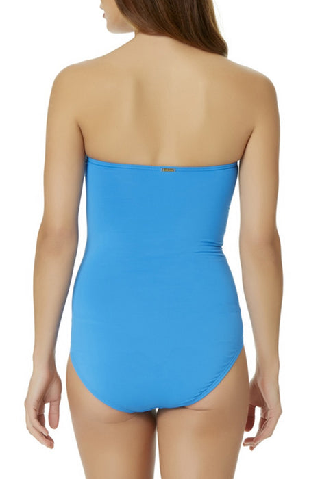 Anne Cole - Bandeau Shirred One Piece Swimsuit