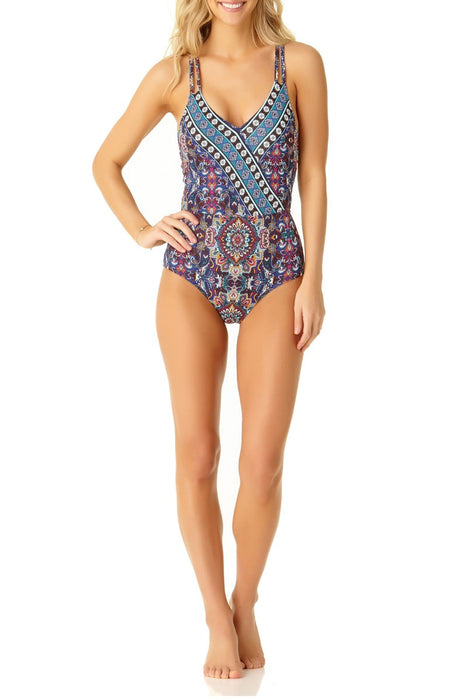 Cole Of California - Medallion Wrap Front One Piece