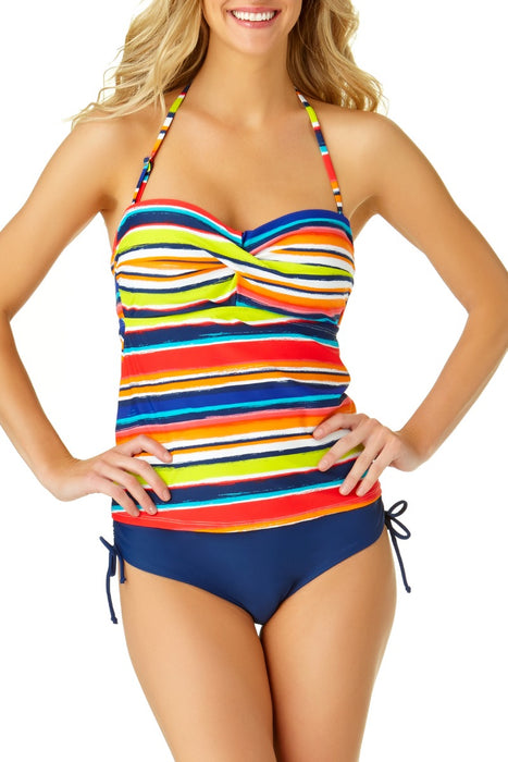 Catalina - Women's Bandeau Twist Front Tankini Top