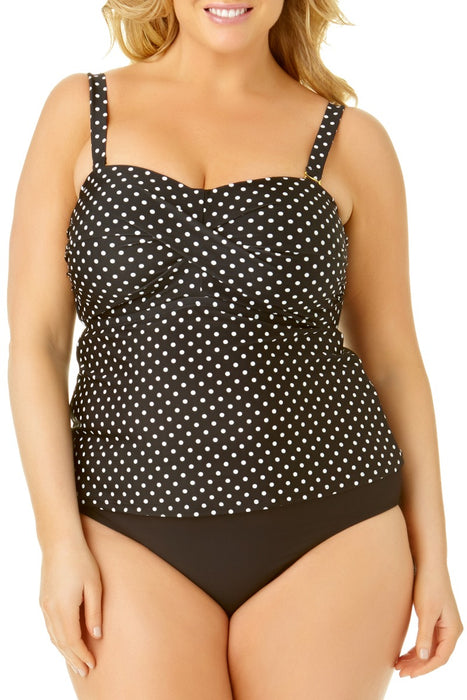 Catalina Plus - Size Bandeau Twist Front Tankini Top