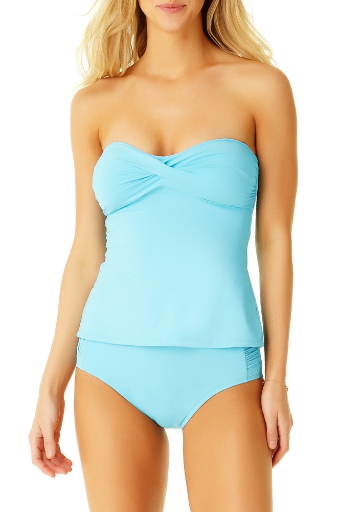Cole Of California - Mesh Twist Bandeau Tankini Top