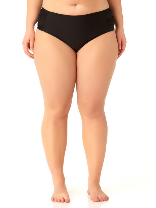 Catalina Plus - Women's Plus Size Black Tab Side Swim Bottom